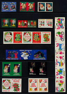Bermuda Christmas Seals Imperforate Proof Collection