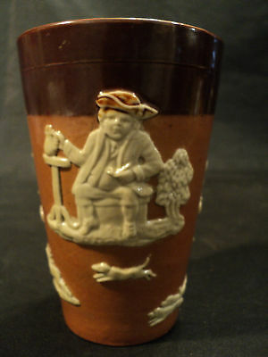 NICE ROYAL DOULTON POTTERY TUMBLER with HUNT SCENES