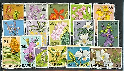 ORCHIDEE - ORCHIDS BARBADOS 1974 Common Stamps