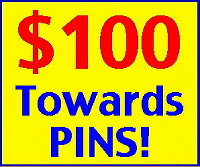 ROCKyourPINworld $100 Gift Credit to ANY PINS in Store! ROCK Your PIN World DEAL