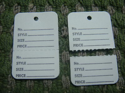 Clothing Price Tagging Tag Gun Hang  Paper Labels White