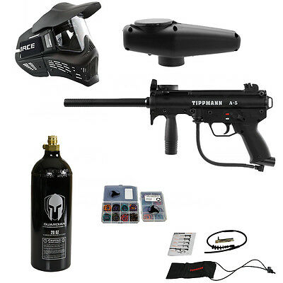 Tippmann A-5 package 1 - A5 paintball marker goggle co2