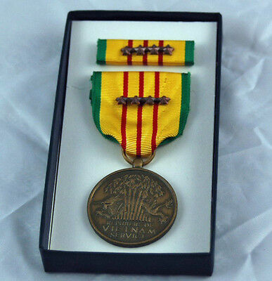 Vietnam Service Medal - 4 Campaign Stars Dated 1969
