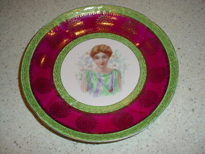 "Austrian Imperial Crown China 10"" Plate Young Woman"