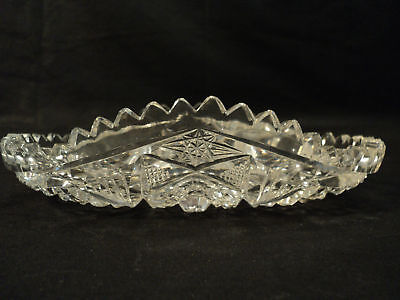 Beautiful Abp Cut Glass Oval Celery Tray / Serving Dish