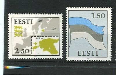 BANDIERE - FLAGS ESTONIA 1991 Common Stamps