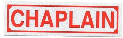 FIRE CHAPLAIN FIRE DEPT RED REFLECTIVE RECTANGLE DECAL