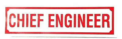 """CHIEF ENGINEER Highly Reflective Decal - 1 1/4"""" x 4 1/4"""" - CHIEF ENGINEER Decal"""
