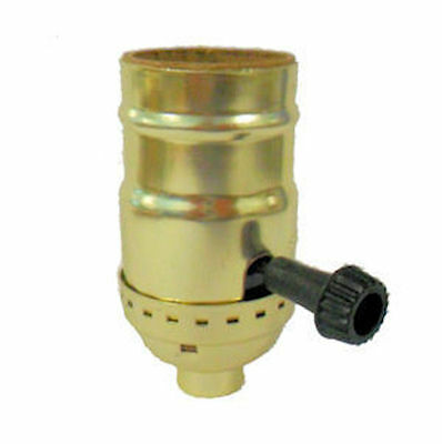 Off/On Sockets Brass-Plate For Wiring Lamps    Tr-39