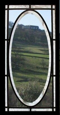 Pretty Bevelled Arts & Crafts English Antique Stained Glass Window