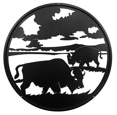 SWEN Products BISON BUFFALO Steel Scenic Art Wall Design