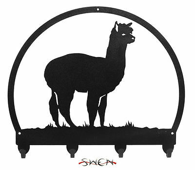 SWEN Products ALPACA Black Metal Key Chain Holder Hanger
