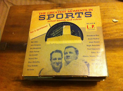 """Greatest Moments in Sports EXCERPTS 7"""" vinyl"""