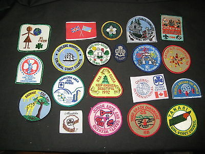 20 diff Girl Scout/Guide patches, worldwde          gs6