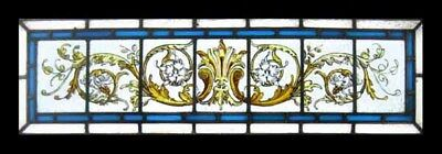 Fabulous Victorian Painted Antique English Stained Glass Window