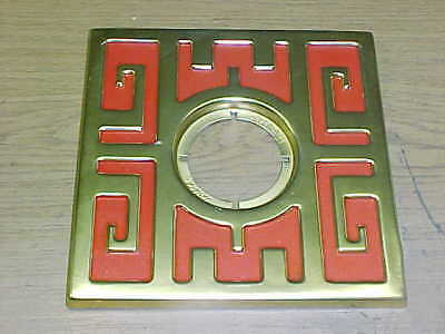 VINTAGE Schlage MING DOOR ESCUTCHEON / 28G RED