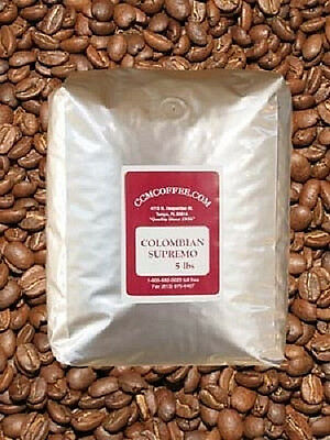 5 Lbs.fresh  Roasted Colombian Supremo Coffee Beans