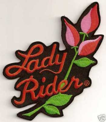 BACK PATCH LADY RIDER ROSE Embroidered For Motorcycle MC NEW Biker Vest LRG-0198