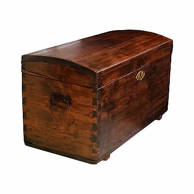 Antique country small chest traveling trunk antica cassapanca baule 800 - MAH95