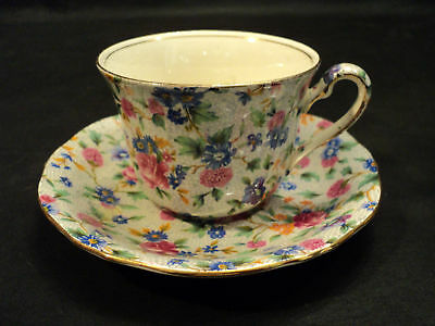 """Nice Royal Winton """"old Cottage"""" Chintz Cup & Saucer"""
