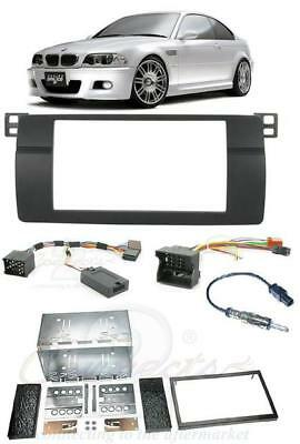 BMW 3 SERIES E46 Complete Double Din Stereo Fitting Kit Facia Stalk CTKBM03