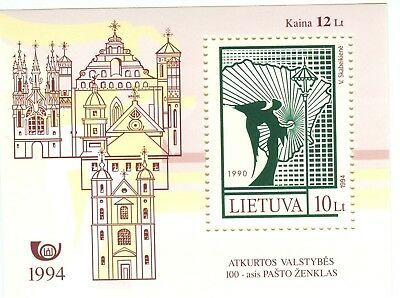 CHIESE - CHURCHES LITHUANIA 1994 block