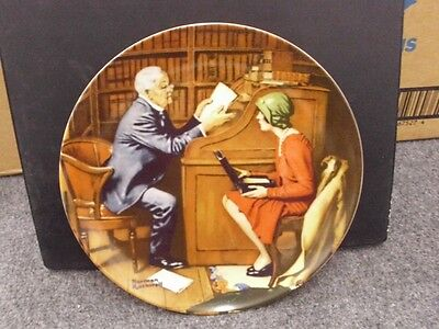 Knowles Rockwell Collector Plate THE PROFESSOR W/ COA