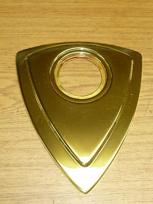 VINTAGE Kwikset DOOR ESCUTCHEON 1-246 fin: BRASS
