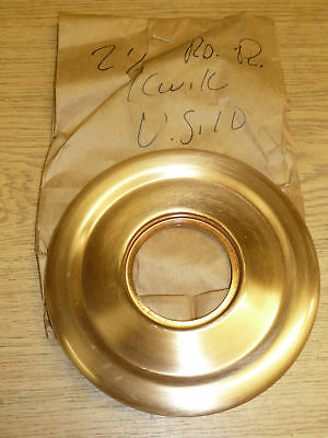 "VINTAGE Kwikset DOOR ESCUTCHEON 5-1/2"" Diameter, fin: US10 BRONZE"