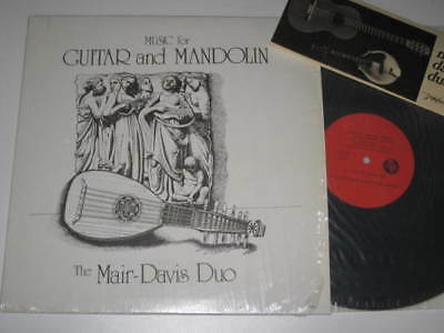 Lp/mair Davis Duo/music For Guitar And Mandolin/signed