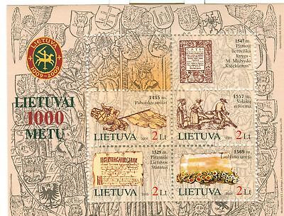 BANDIERE & STORIA - HISTORY LITHUANIA 2005 block