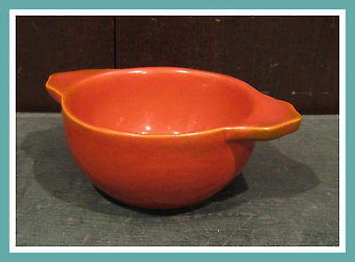 Small Vintage Red Orange Casserole Catalina Pottery