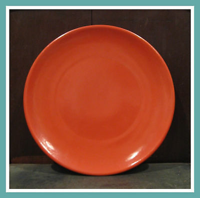 Red Orange Catalina Pottery 14 inch Plate Platter