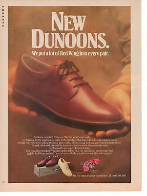Vintage 1988 Red Wing Dunoons Shoe Magazine Advertisement Ad Page Nice