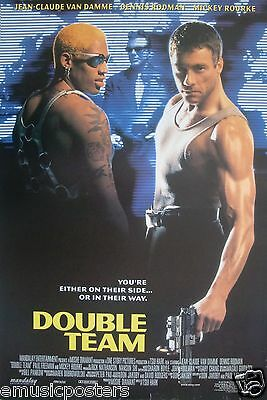 "JEAN-CLAUDE VAN DAMME/DENNIS RODMAN ""DOUBLE TEAM"" POSTER FROM ASIA-Mickey Rourke"