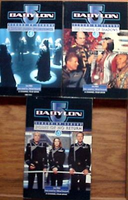 1997  Babylon 5 Season 1-3 TV Series Paperback Book Set of 3 from UK- UNREAD