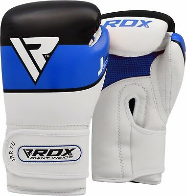 RDX Leather Kids Boxing Gloves Junior Youth Training Mitts Children Kickboxing B
