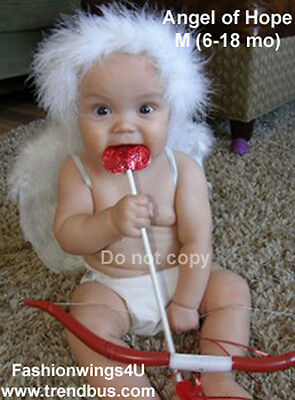 Baby Cupid costume props:Angel Wings Halo Arrow Bow set