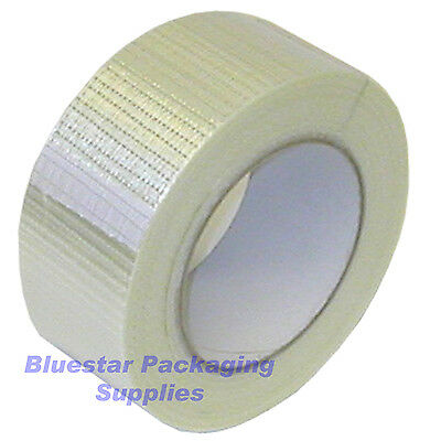 2 Rolls of Crossweave Reinforced Tape 50mm x 50m