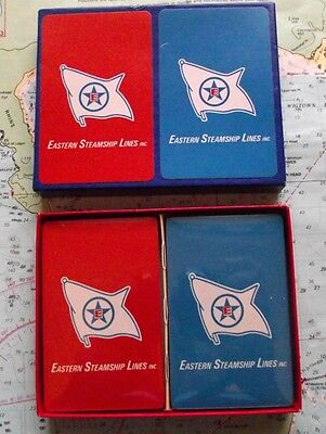 1960 Eastern Steamship Line Playing Cards Mint Twin Box