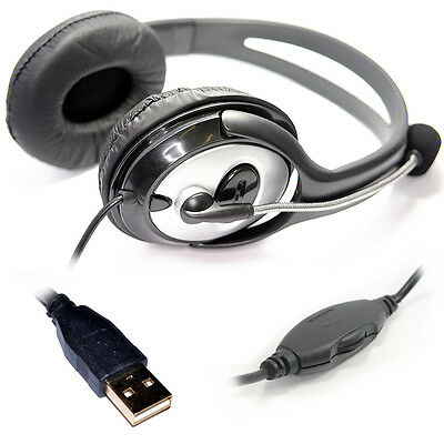 USB Dynamode Stereo Headset with Microphone Mic