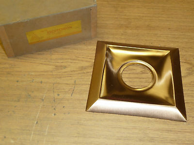 "VINTAGE Trimco DOOR ESCUTCHEON 5-5/8"" SQUARE fin BRONZE"