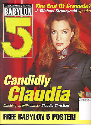 Babylon 5 Official Magazine Vol 2 #11- British-Claudia Christian/Poster