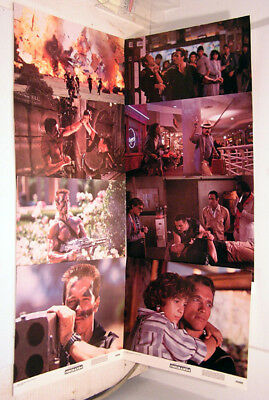 1985 Set of 8 Original Lobby Card 11x14 COMMANDO-MINT!