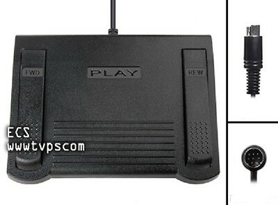 IN-19 IN19 8 Pin Mini Din Plug Foot Pedal for Lanier, Olympus, Philips