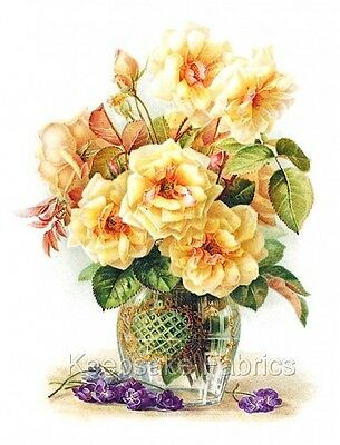 Yellow Rose Red Bud Crazy Quilt Fabric Block Multi Szs FrEE ShiPPinG WoRld WiDe