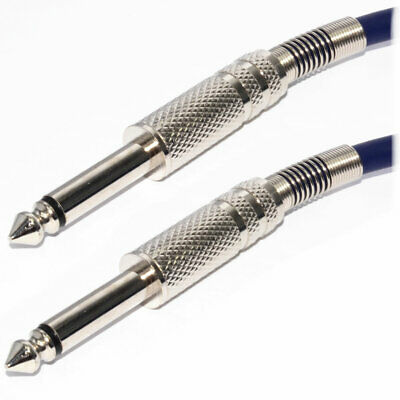 5m Pulse 6.35mm Low Noise Guitar Cable BLUE Lead