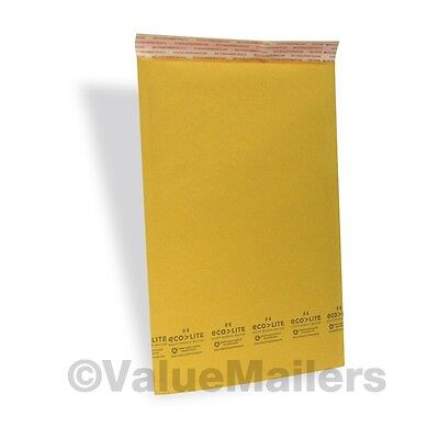 100 #4 9.5x14.5 Ecolite Kraft Bubble Mailers Padded Envelopes Bags