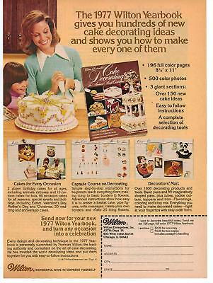 Vintage 1977 Wilton Baking Yearbook Magazine Advertisement Ad Page