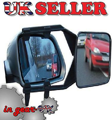 Tow  mirror door clipon car extending caravan towing extender blindspot trailer